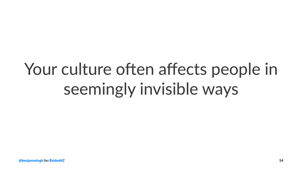 Your culture o*en affects people in seemingly in...