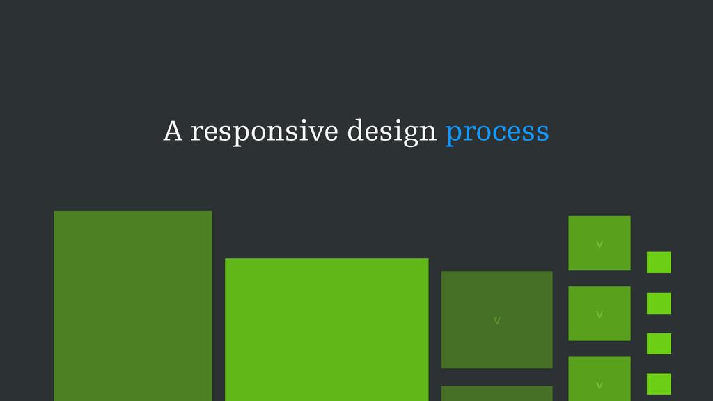A responsive design process v v v v v v v v