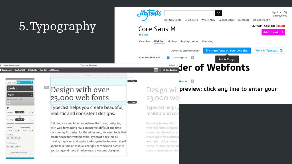 Typography 5.