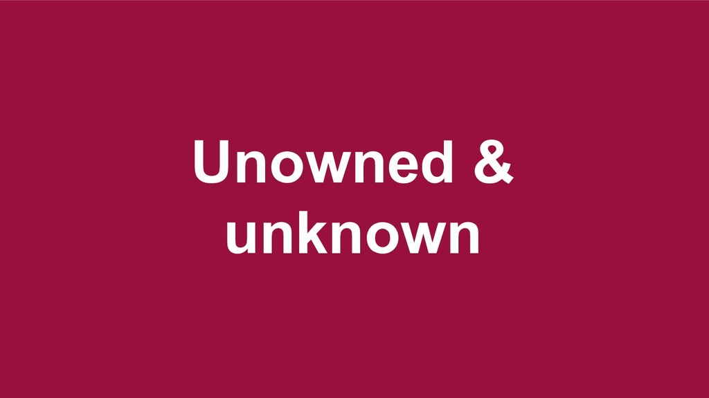 Unowned & unknown