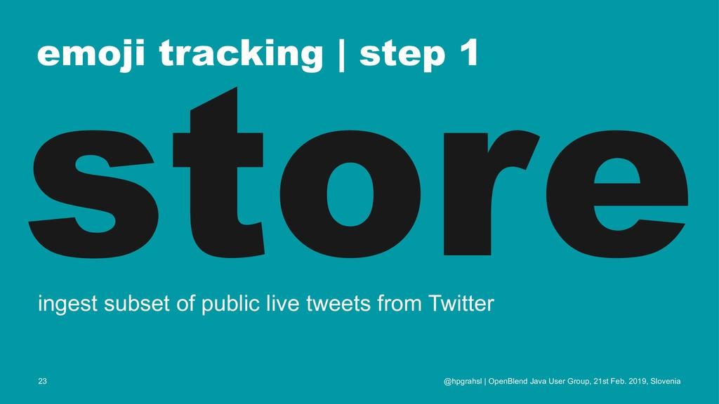 emoji tracking | step 1 store ingest subset of ...