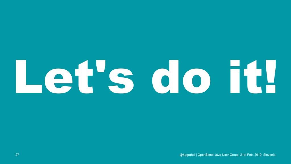 Let's do it! @hpgrahsl | OpenBlend Java User Gr...
