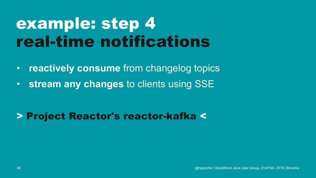 example: step 4 real-time notifications • react...