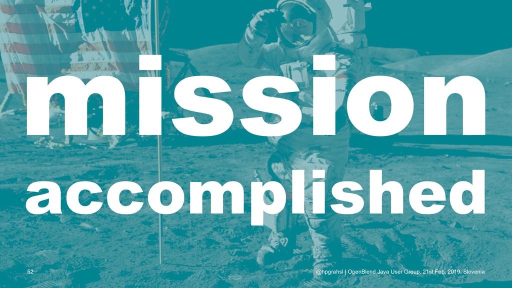 mission accomplished @hpgrahsl | OpenBlend Java...