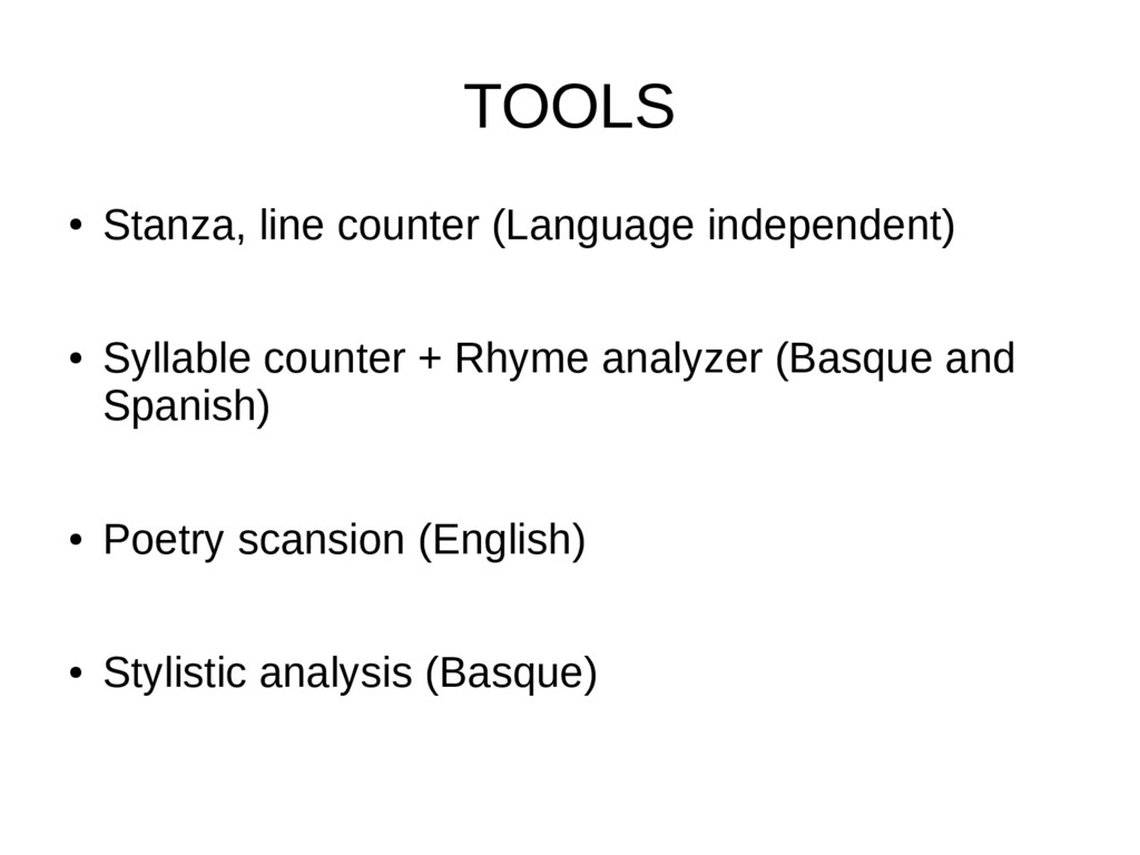 TOOLS ● Stanza, line counter (Language independ...