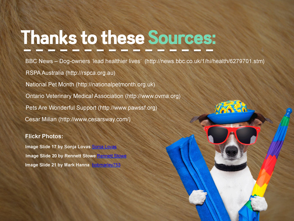 Thanks to these Sources: RSPA Australia (http:/...