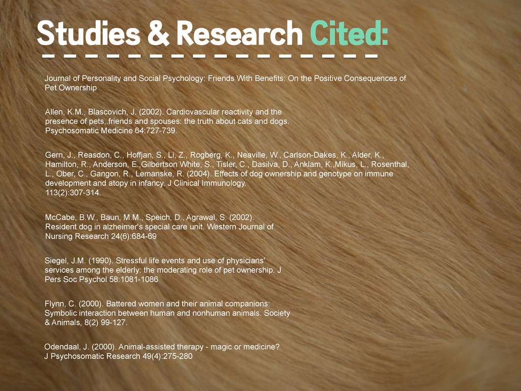Studies & Research Cited: Journal of Personalit...