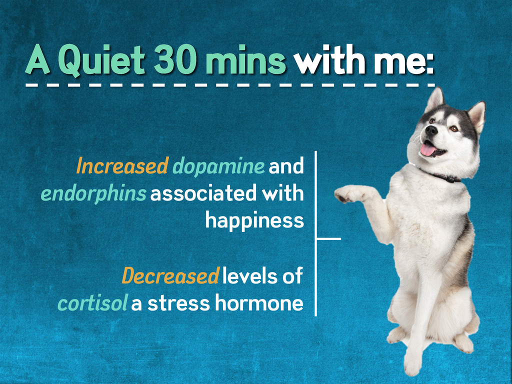 A Quiet 30 mins with me:  Increased dopamine...