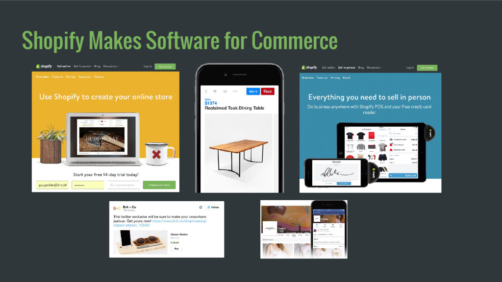 Shopify Makes Software for Commerce