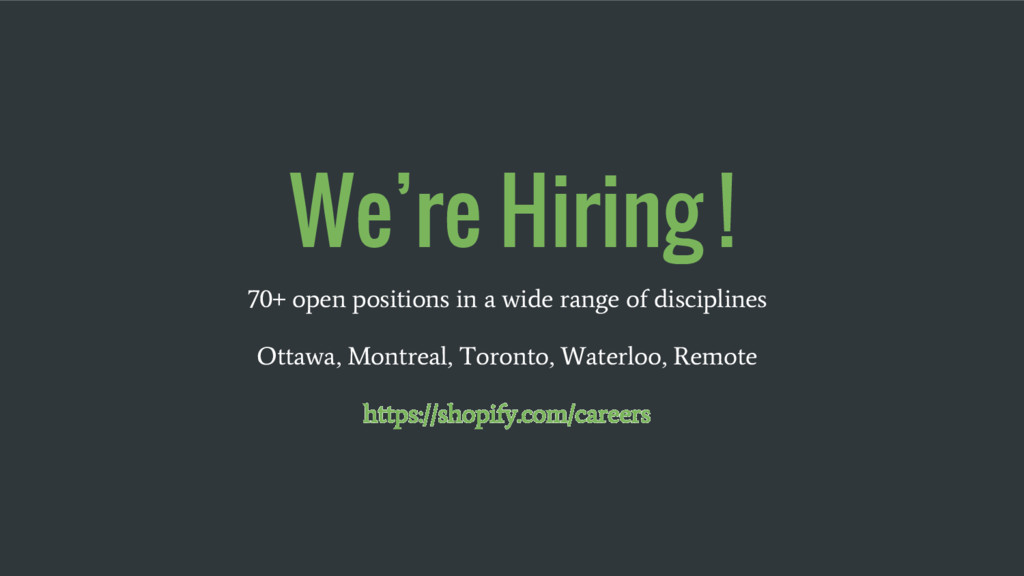 We're Hiring ! 70+ open positions in a wide ran...