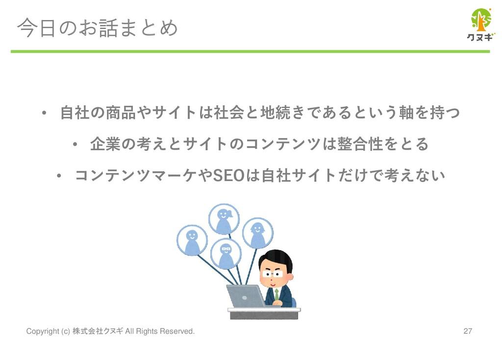 今日のお話まとめ Copyright (c) 株式会社クヌギ All Rights Reser...