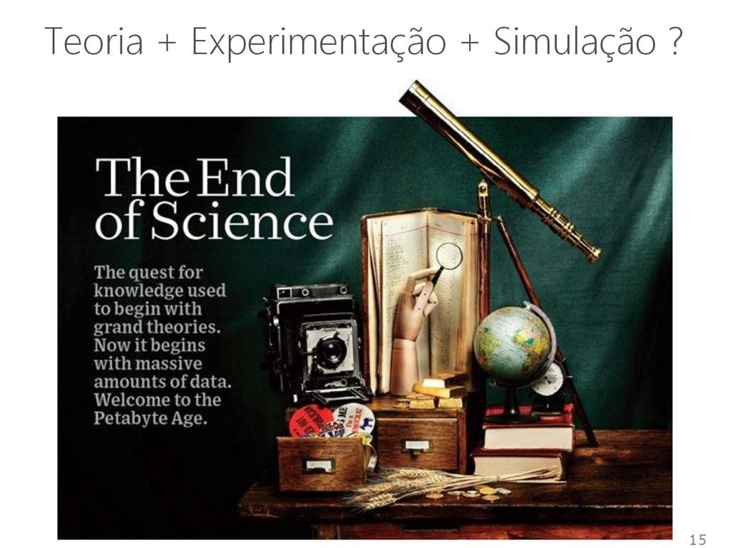 Teoria + Experimentação + Simulação ? 15