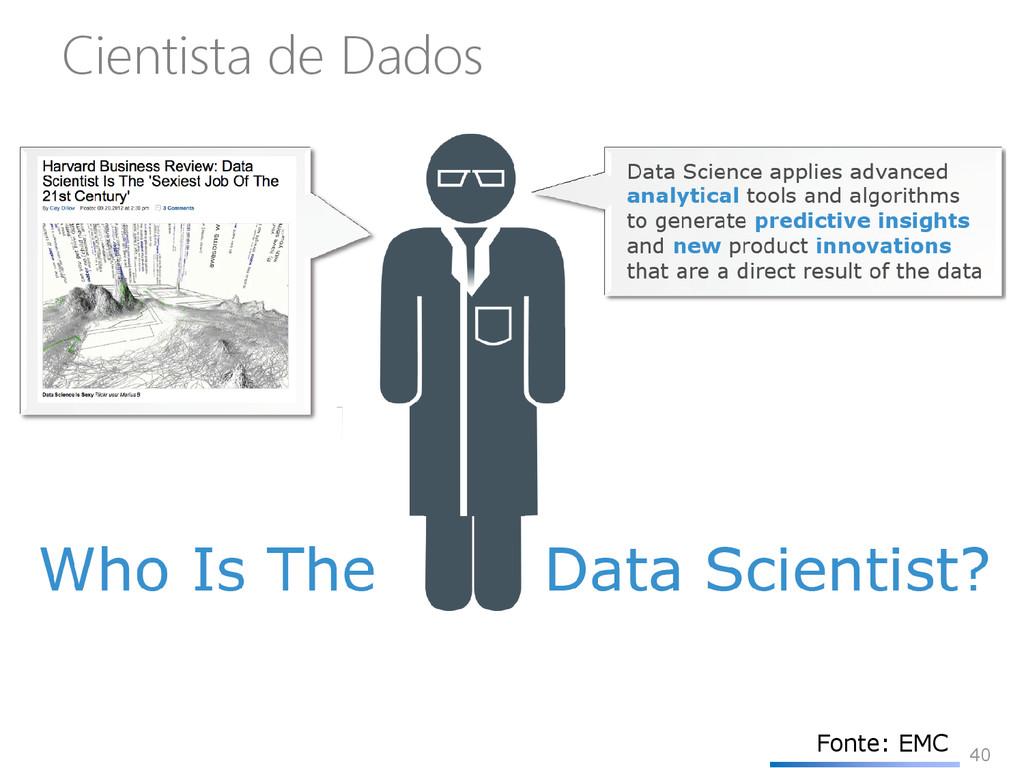 40 Cientista de Dados Fonte: EMC