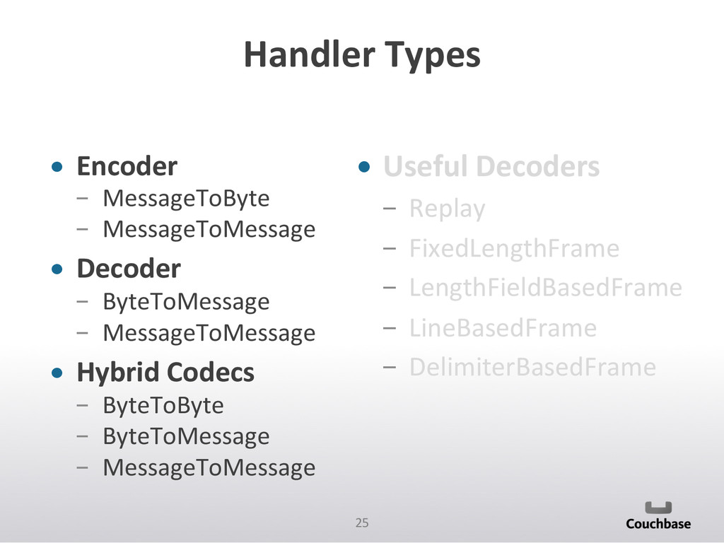 25  Handler Types  • Encoder   M...