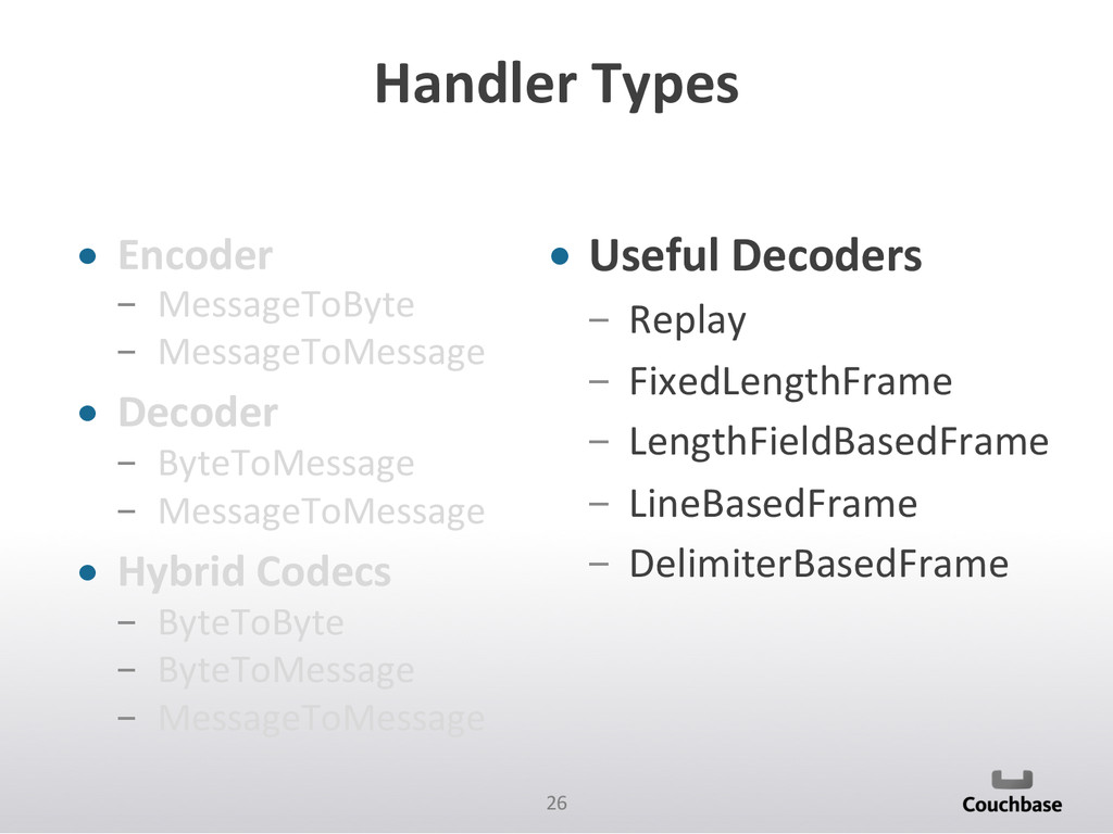 26  Handler Types  • Encoder   M...