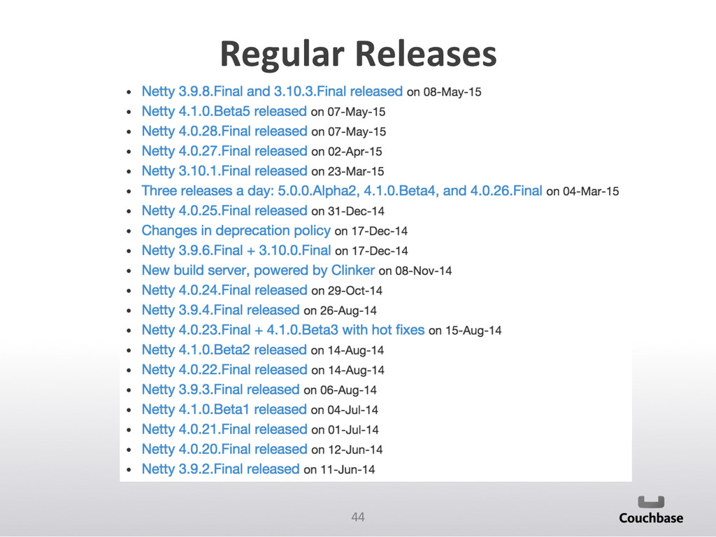44  Regular Releases