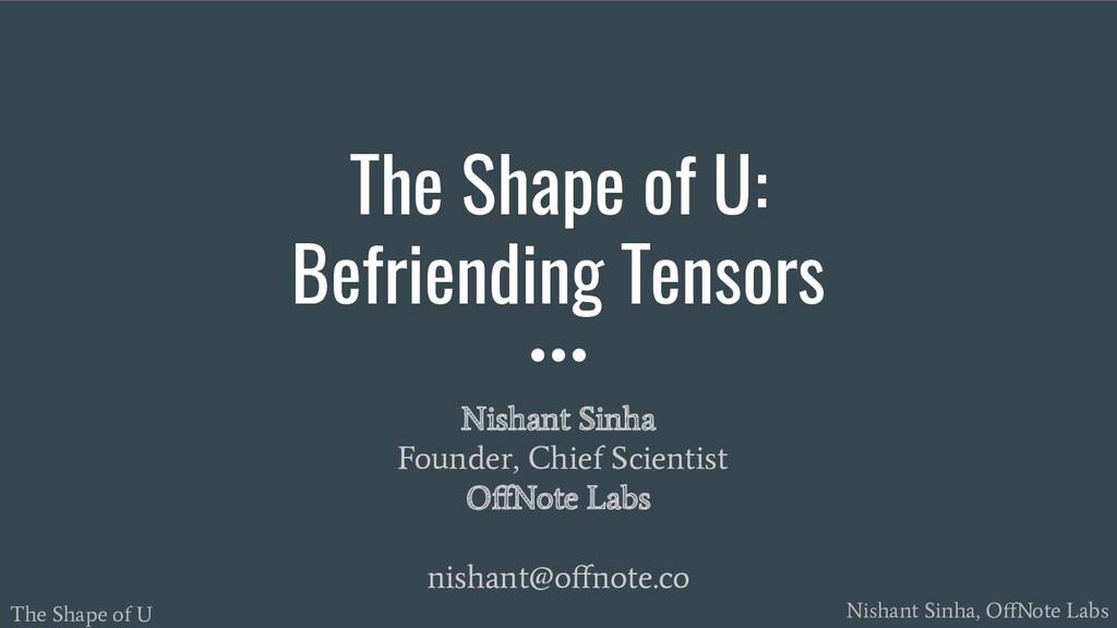 The Shape of U Nishant Sinha, OffNote Labs Nisha...