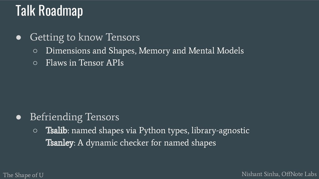 The Shape of U Nishant Sinha, OffNote Labs Talk ...