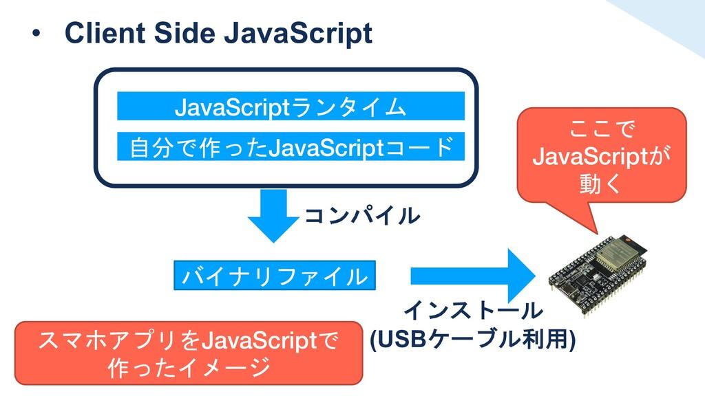 • Client Side JavaScript JavaScriptランタイム 自分で作った...