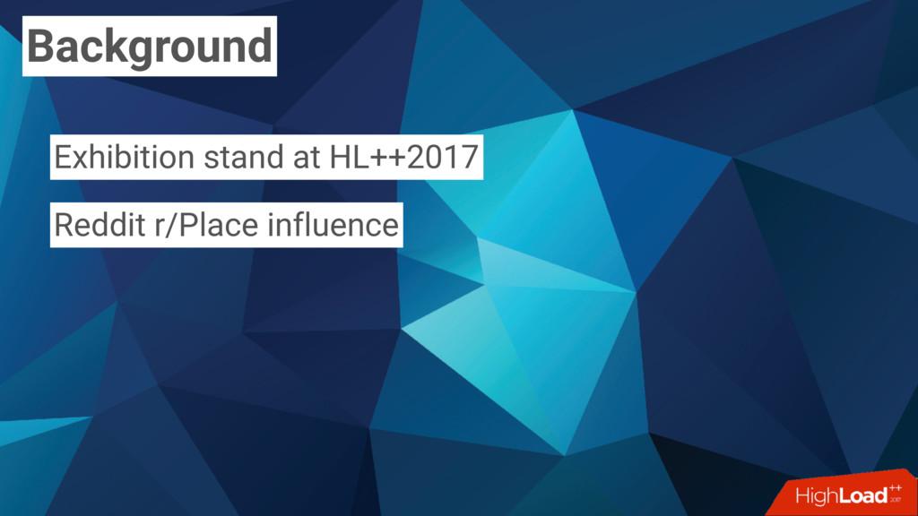 Background Exhibition stand at HL++2017 Reddit ...