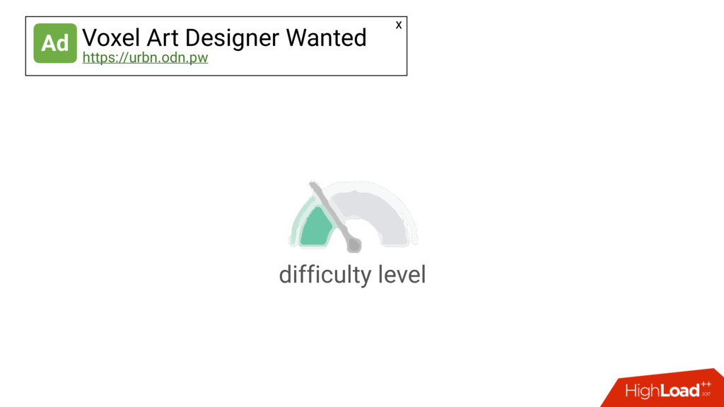 difficulty level Ad Voxel Art Designer Wanted h...