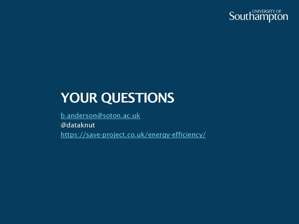YOUR QUESTIONS b.anderson@soton.ac.uk @dataknut...