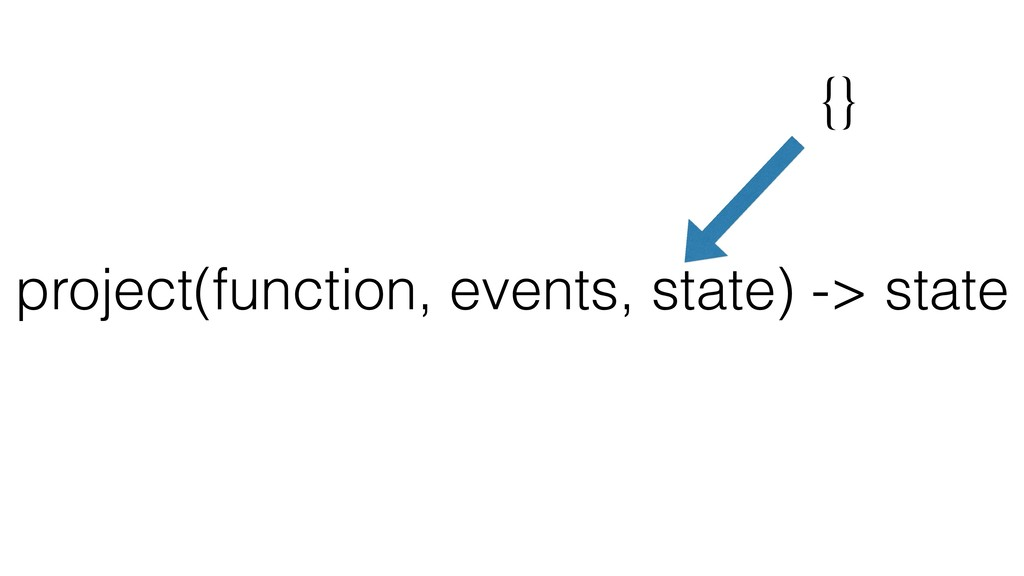 project(function, events, state) -> state {}