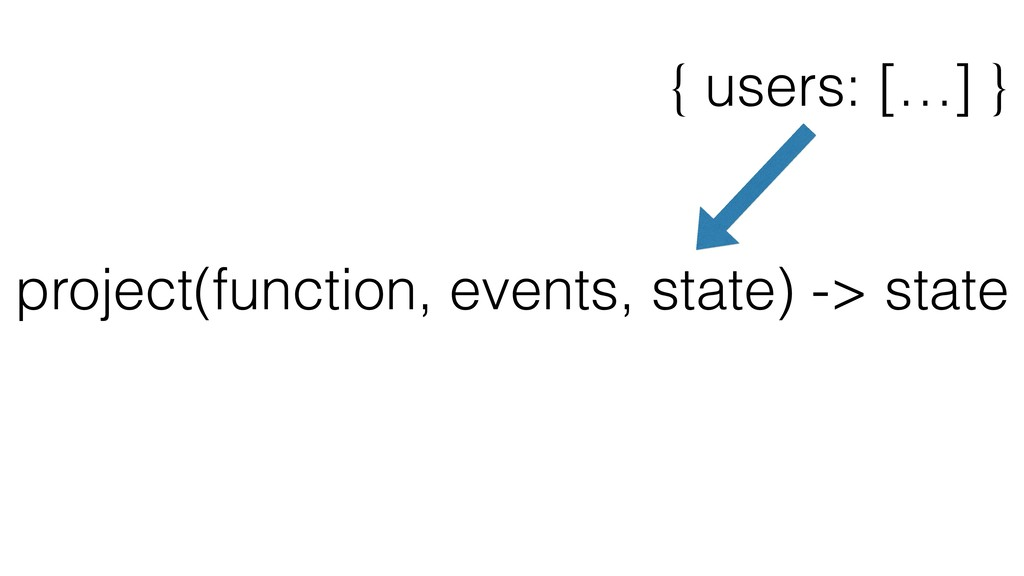 project(function, events, state) -> state { use...