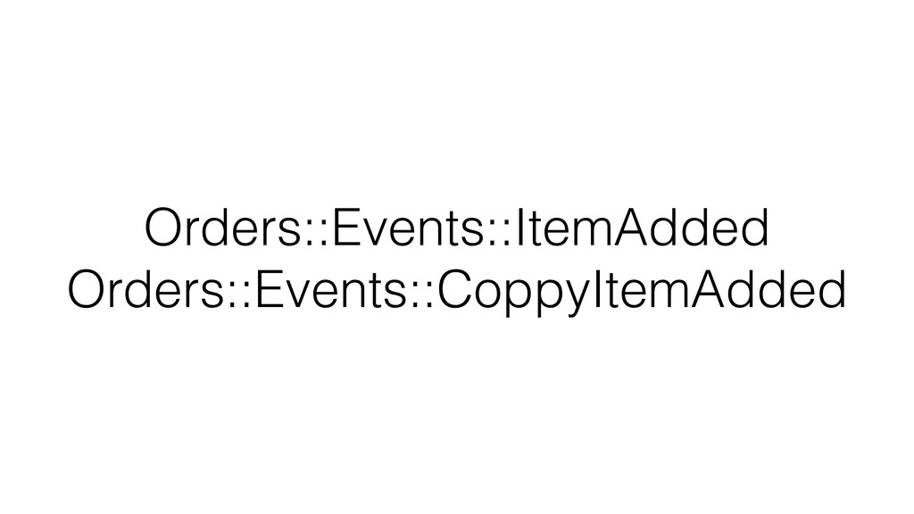 Orders::Events::ItemAdded Orders::Events::Coppy...