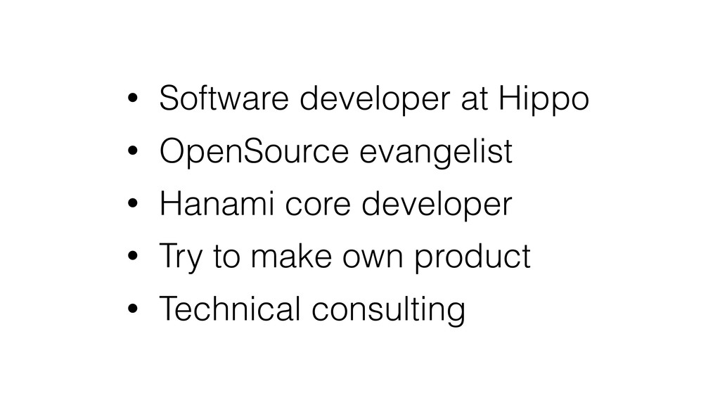 • Software developer at Hippo • OpenSource evan...