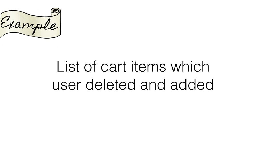 List of cart items which user deleted and added