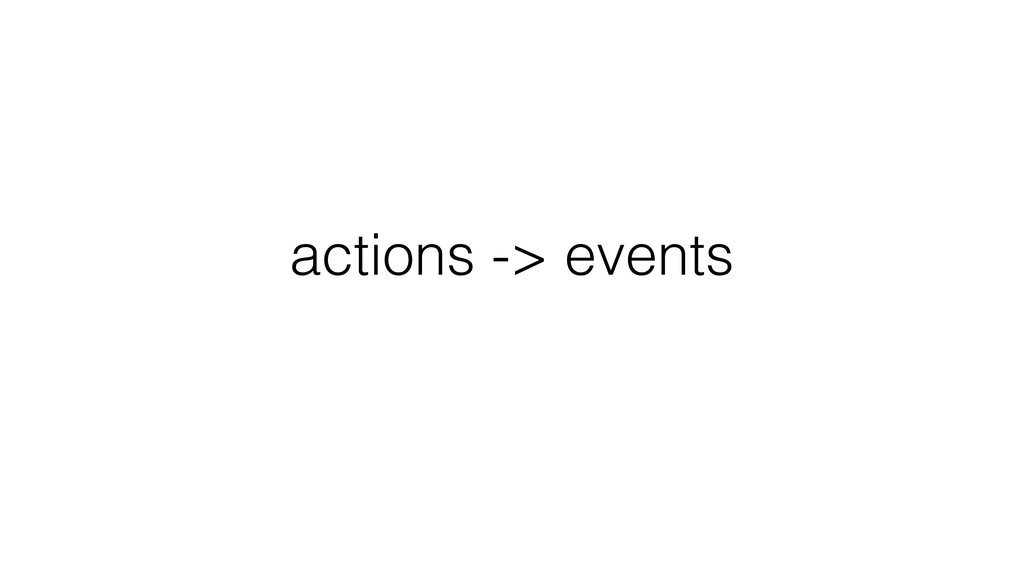 actions -> events data in DB -> current state
