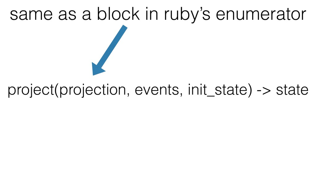 project(projection, events, init_state) -> stat...