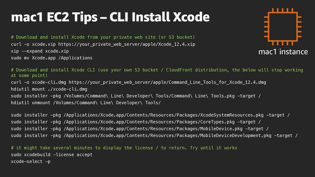 # Download and install Xcode from your private ...