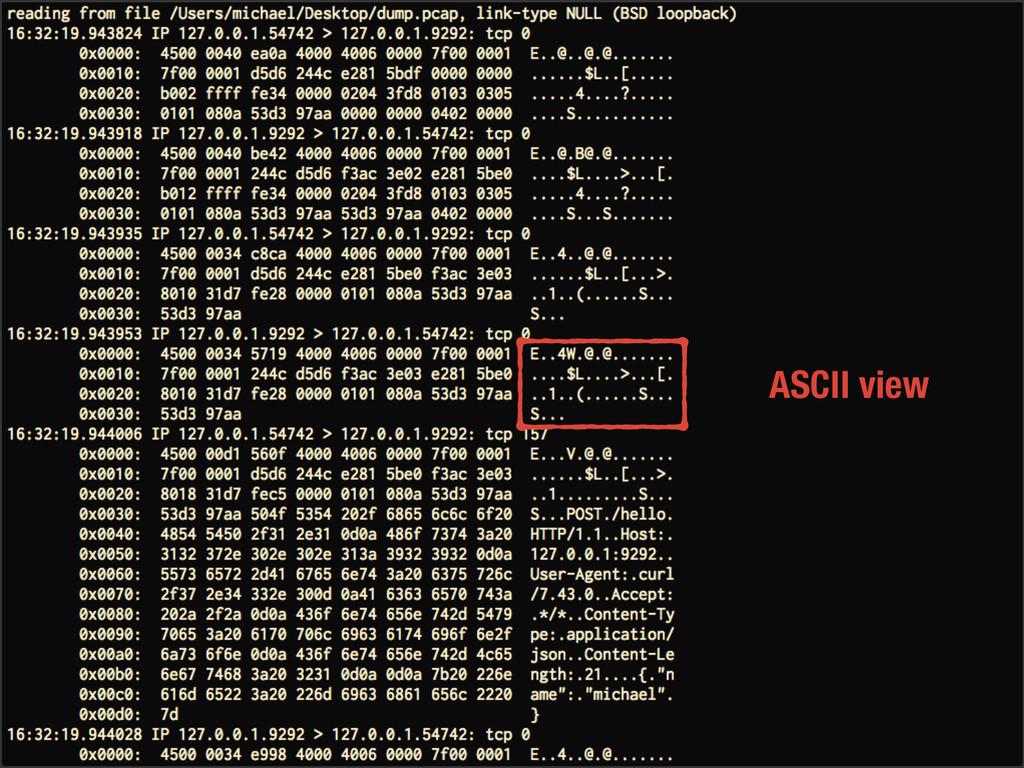 ASCII view