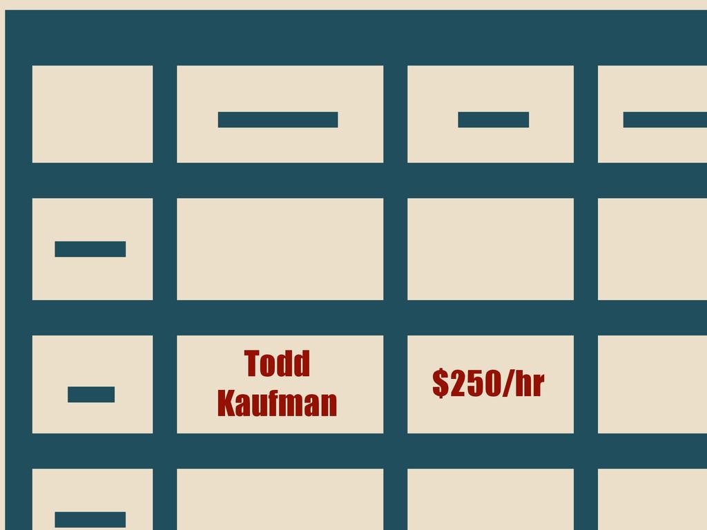 Todd Kaufman $250/hr