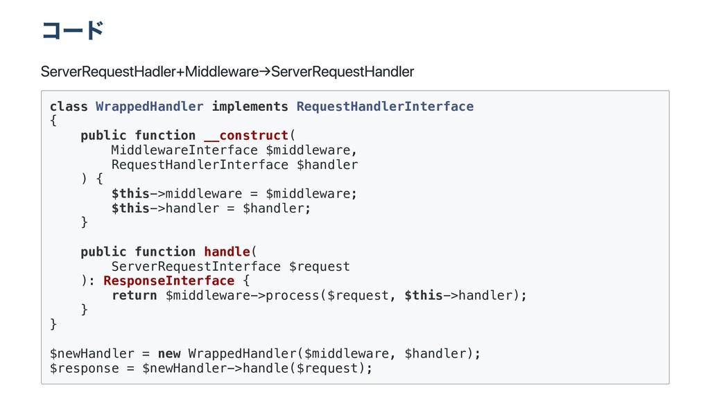 コード Server Request Hadler + Middleware → Server...