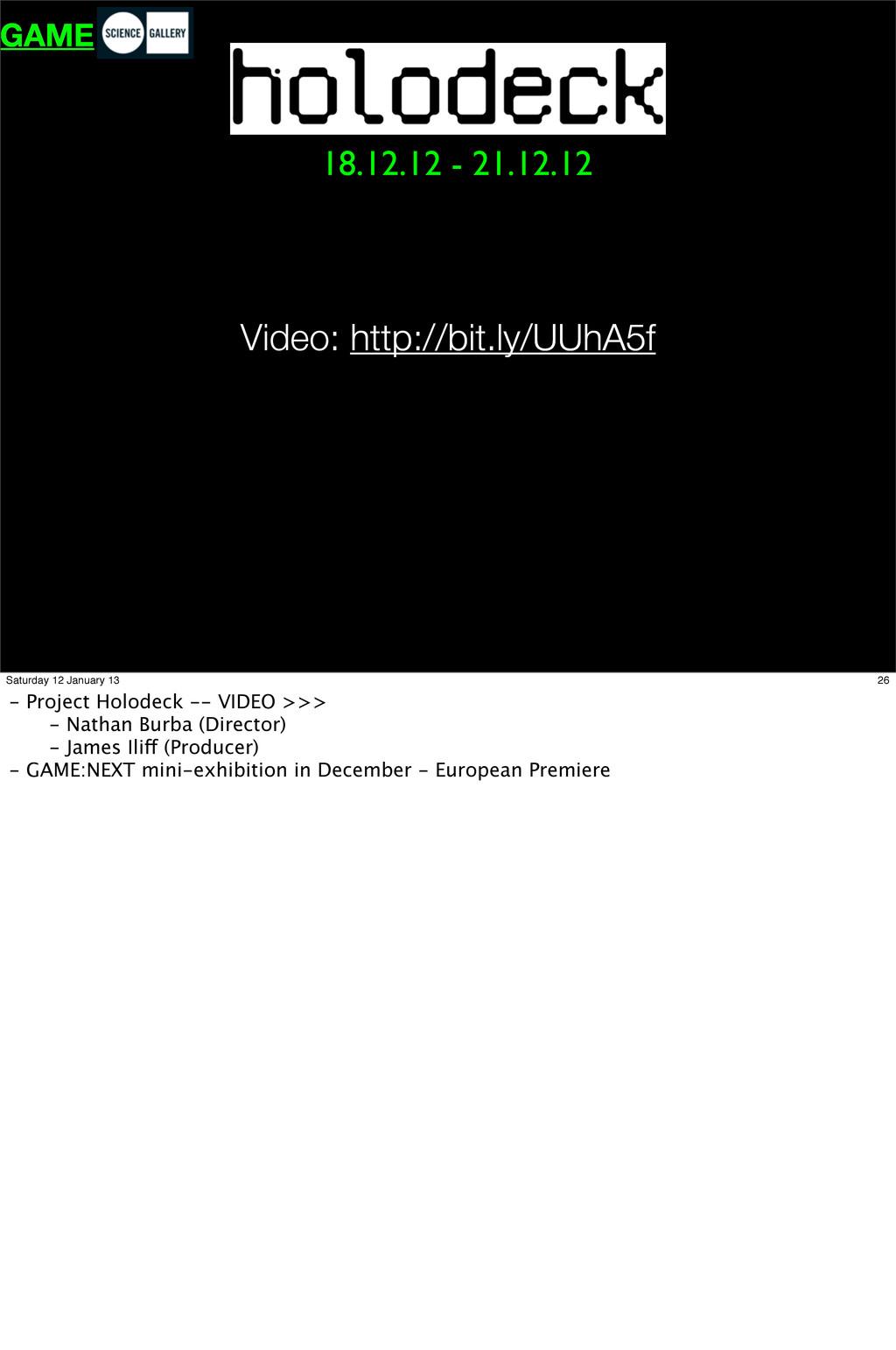 18.12.12 - 21.12.12 GAME Video: http://bit.ly/U...