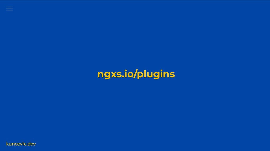 kuncevic.dev NGXS Labs