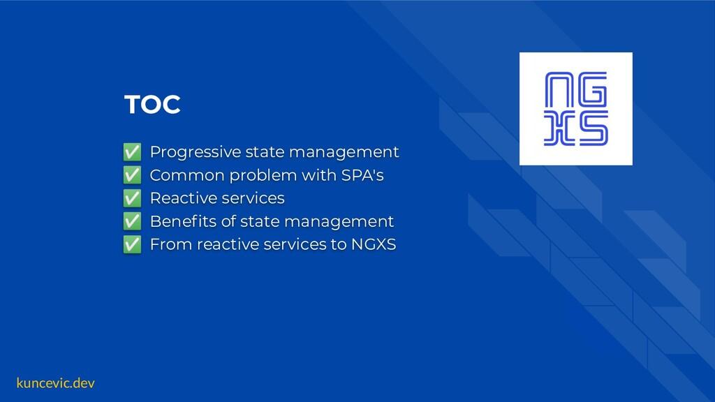 kuncevic.dev TOC ✅ Progressive state management...