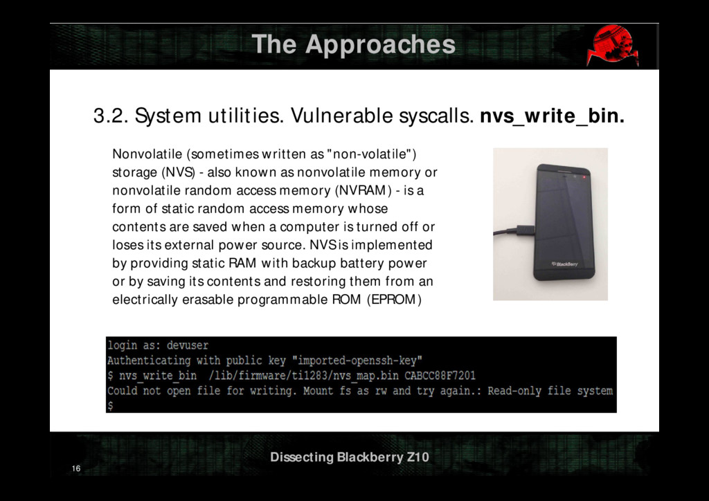 Dissecting Blackberry Z10 The Approaches 3.2. S...
