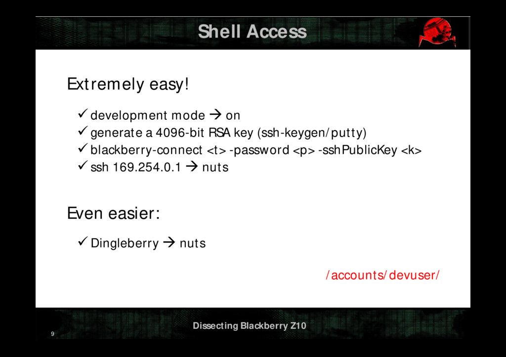 Dissecting Blackberry Z10 Shell Access Extremel...