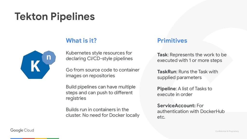 Confidential & Proprietary Tekton Pipelines What...