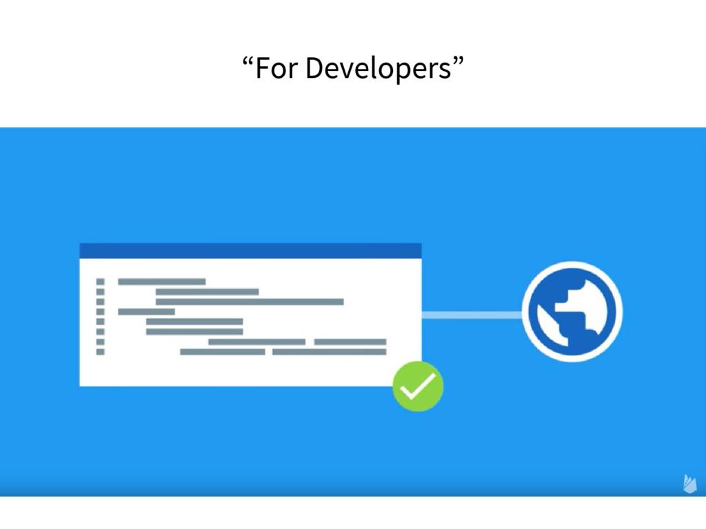 """For Developers"""