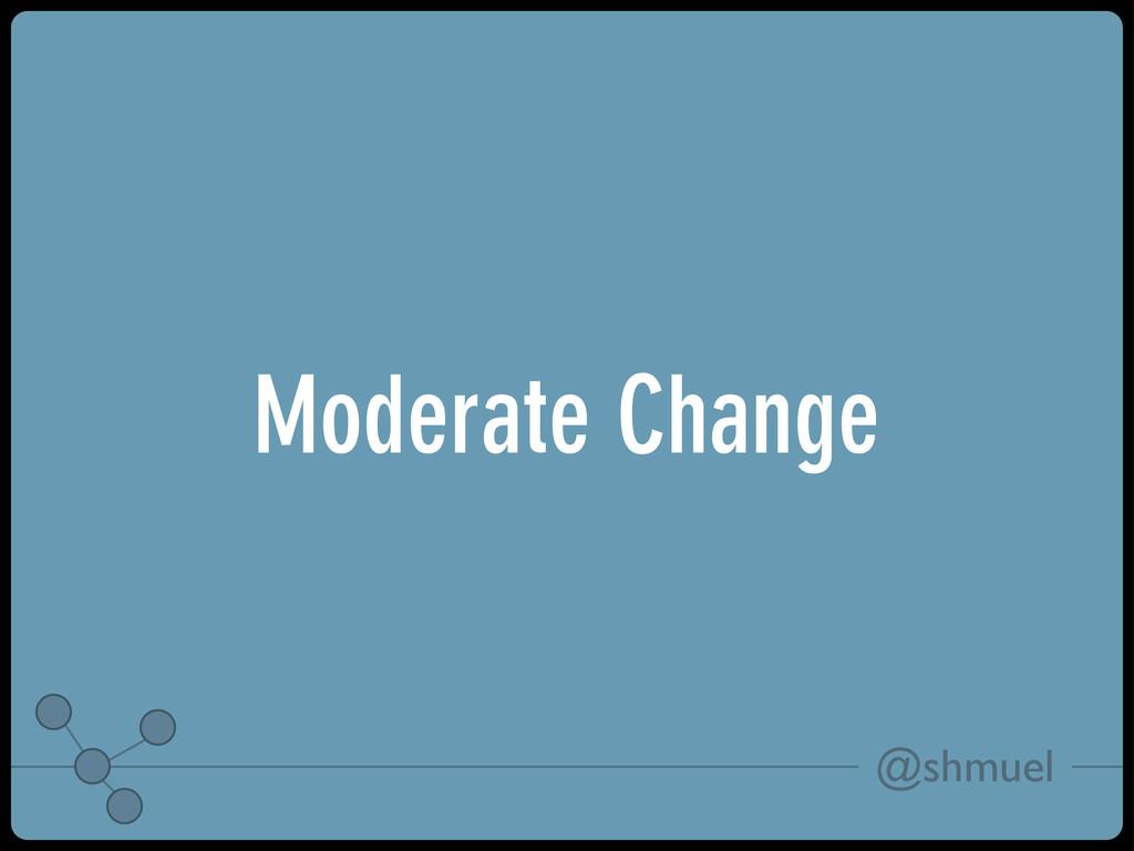 @shmuel Moderate Change