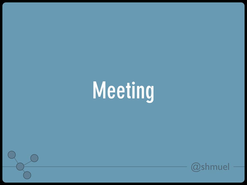 @shmuel Meeting
