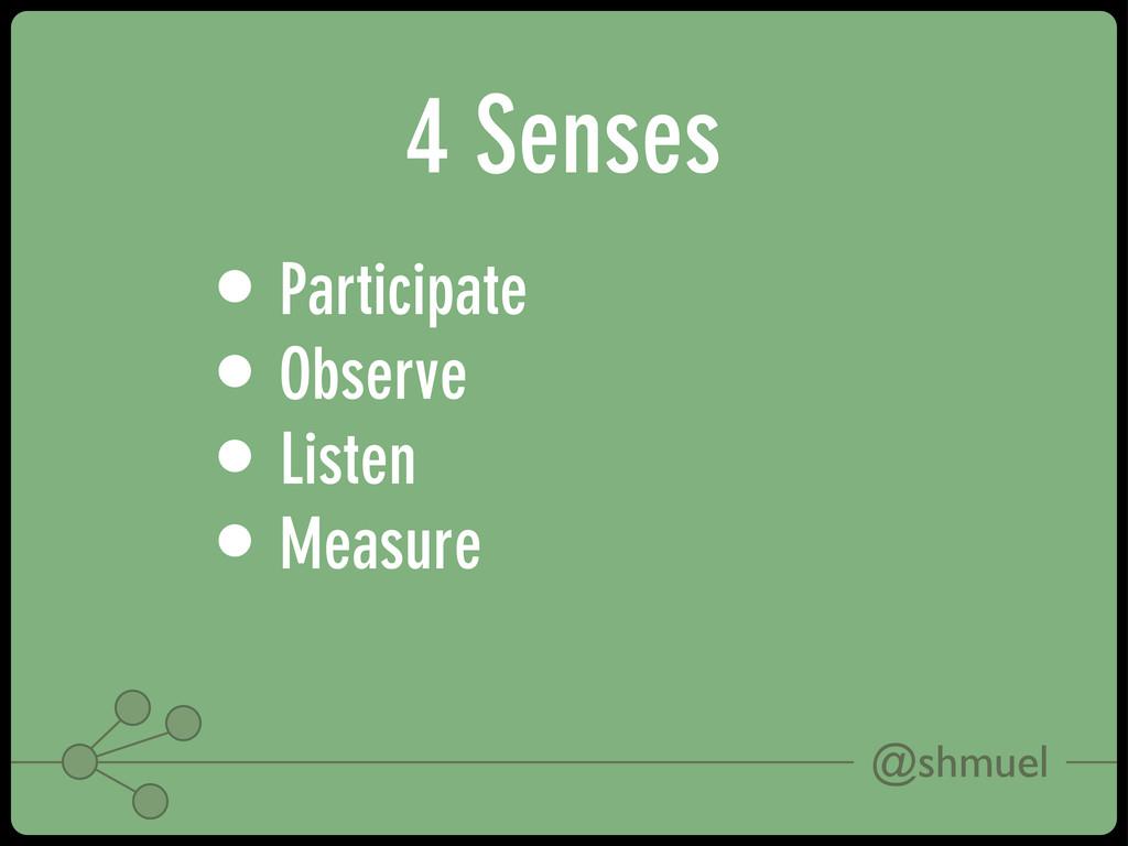 @shmuel 4 Senses • Participate • Observe • List...