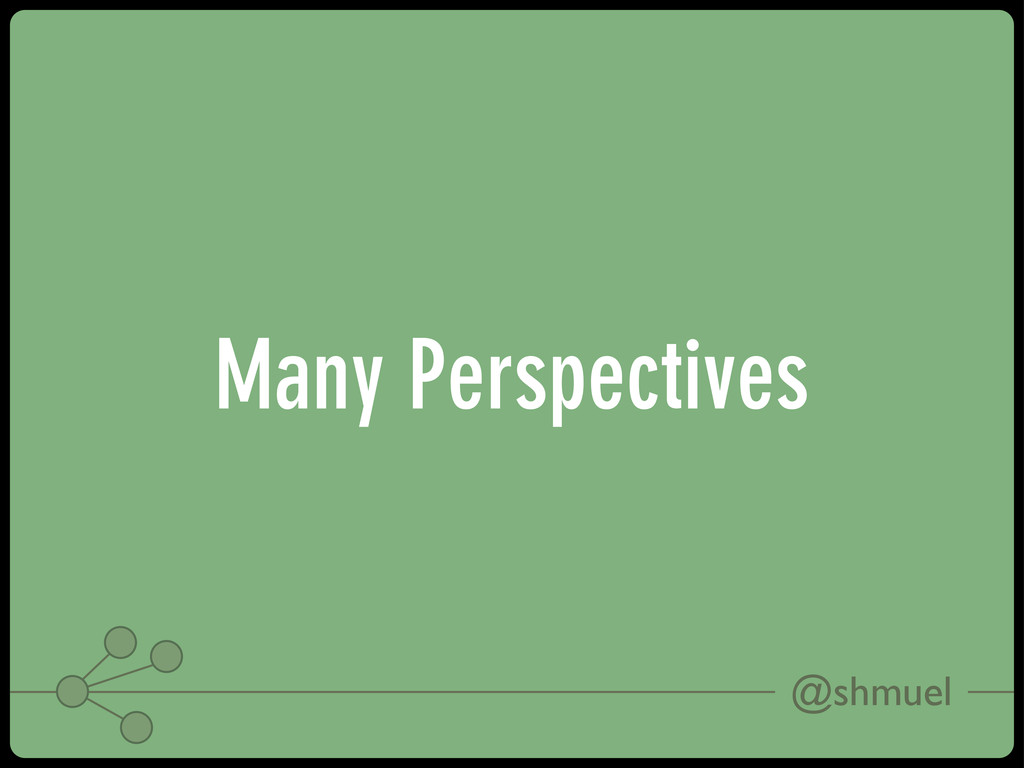 @shmuel Many Perspectives