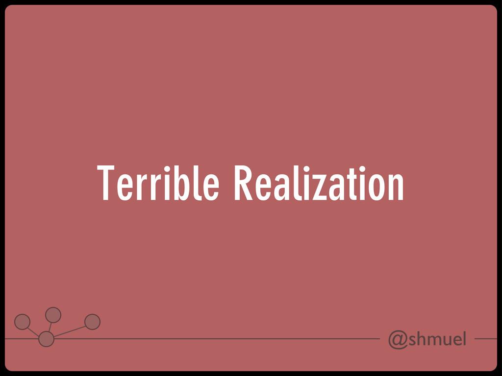 @shmuel Terrible Realization