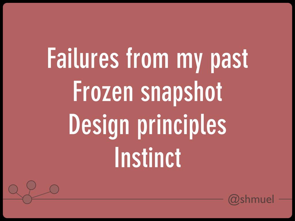 @shmuel Failures from my past Frozen snapshot D...